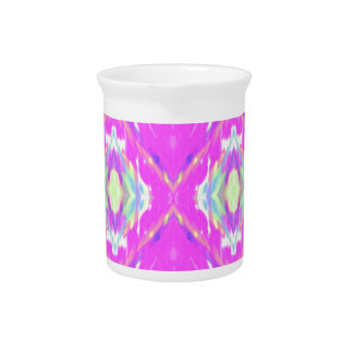 How Pink Girly Pattern Pitcher