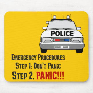 How Police Officers Respond to Your Emergency Mouse Pad