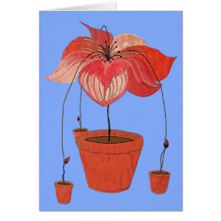 How Potted Plants Reproduce Greeting Card