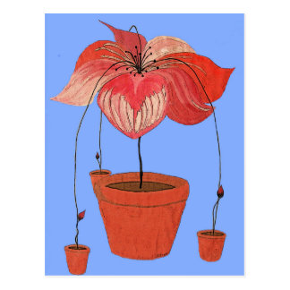 How Potted Plants Reproduce Postcard