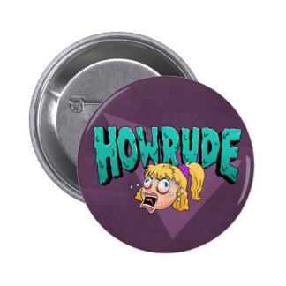 How Rude! 6 Cm Round Badge