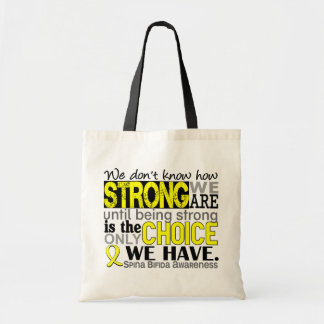 How Strong We Are Spina Bifida Budget Tote Bag