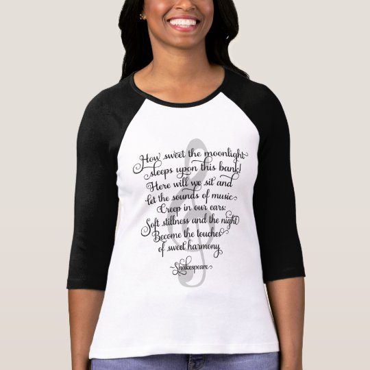 How Sweet the Moonlight, Shakespeare Music Quote T-Shirt