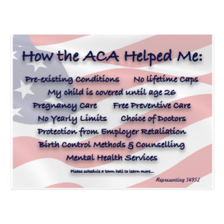 How the ACA Helped Me Postcards