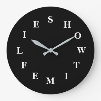 How Time Flies Black Large Wall Clock by Janz