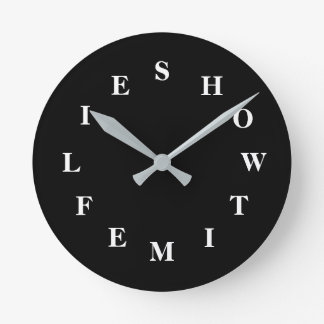How Time Flies Black Medium Wall Clock by Janz