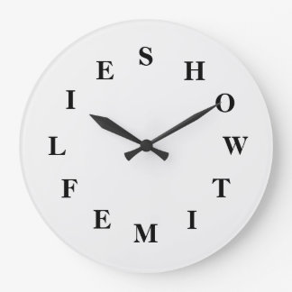 How Time Flies White Smoke Large Clock by Janz