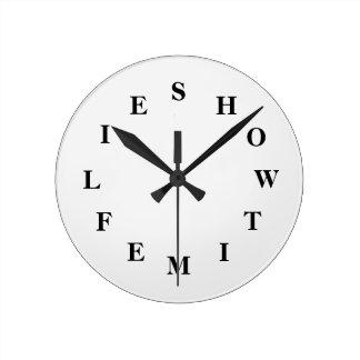 How Time Flies White Smoke Medium Clock by Janz