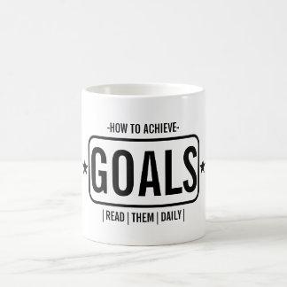 How To Achieve Goals Basic White Mug
