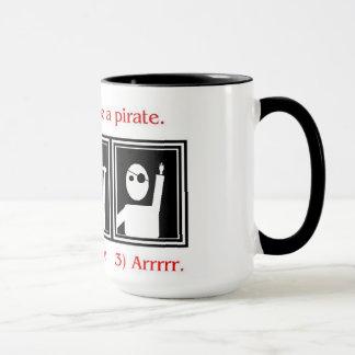How to be a pirate mug