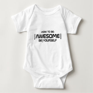 How To Be Awesome Baby Bodysuit