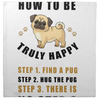 how to be truly happy step  find napkin
