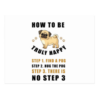 how to be truly happy step  find postcard