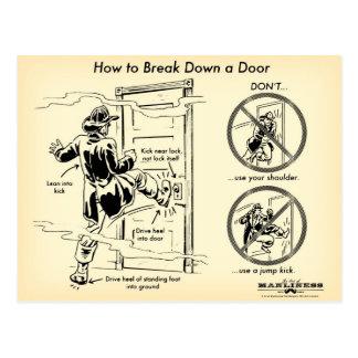 How to Break Down a Door Postcard