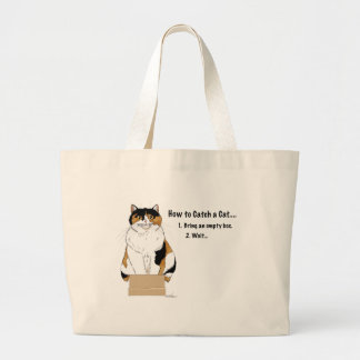 How to Catch a Cat Large Tote Bag