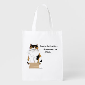 How to Catch a Cat Reusable Grocery Bag