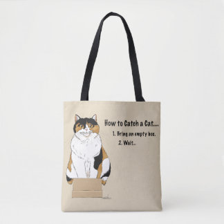 How to Catch a Cat Tote Bag
