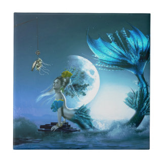 How to Catch a Mermaid Ceramic Tile