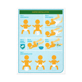 How to Diaper Canvas Print