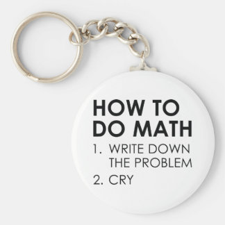 How To Do Math Key Ring