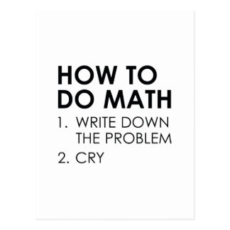 How To Do Math Postcard