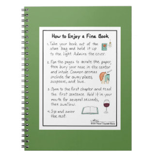 How to Enjoy a Fine Book Green Notebook