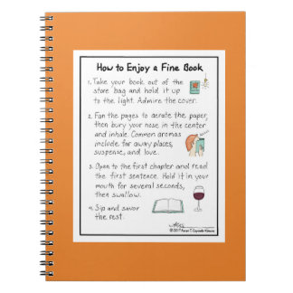 How to Enjoy a Fine Book Orange Notebook
