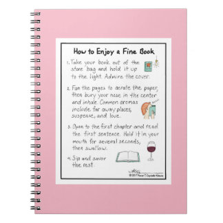 How to Enjoy a Fine Book Pink Notebook