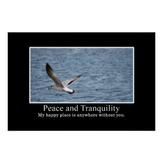 How to find peace and tranquility XL Poster