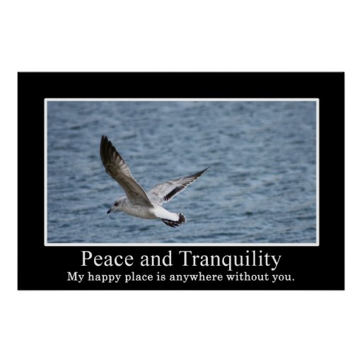How to find peace and tranquillity poster