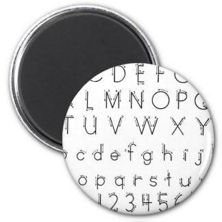 How to form your letters - Alphabet handwriting 6 Cm Round Magnet