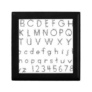 How to form your letters - Alphabet handwriting Small Square Gift Box