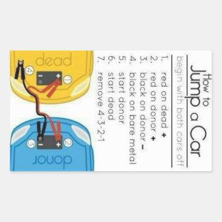 How to Jump a Car Rectangular Sticker