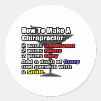 How To Make a Chiropractor Round Sticker