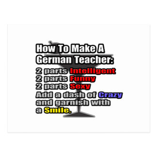 How To Make a German Teacher Post Card