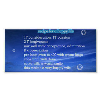 How to make a happy wife poster