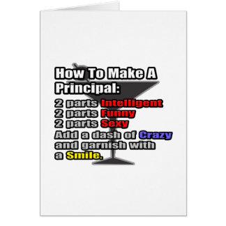 How To Make a Principal Cards