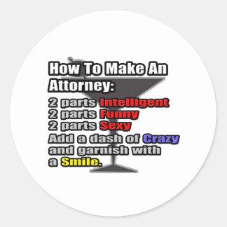 How To Make an Attorney Round Sticker