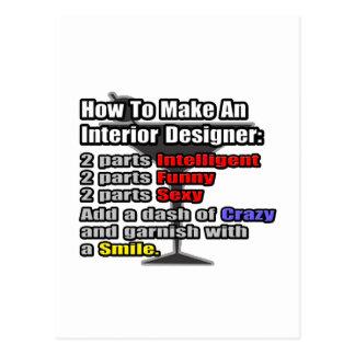 How To Make an Interior Designer Postcard