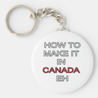 HOW TO MAKE IT IN CANADA EH! BASIC ROUND BUTTON KEY RING