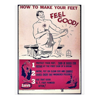 How To Make Your Feet Feel Good! 21.5 Cm X 28 Cm Flyer