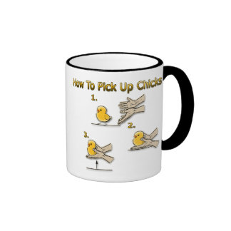 How To Pick Up Chicks Funny Directions Coffee Mugs