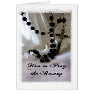 How to Pray the Rosary Card