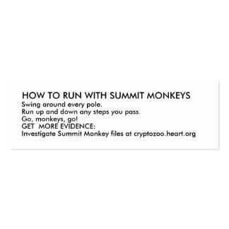 HOW TO RUN WITH SUMMIT MONKEYS BUSINESS CARD TEMPLATE