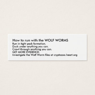 How to run with the WOLF WORMS Mini Business Card
