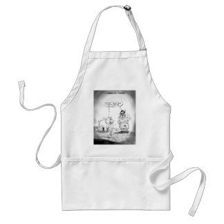 How To Scare A Big Dog Funny Cartoon Gifts & Tees Standard Apron