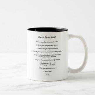 """""""How to Toast"""" Instructional Mug"""