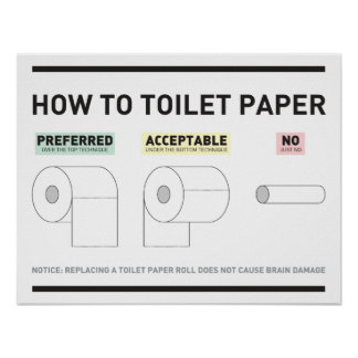 How To Toilet Paper Poster