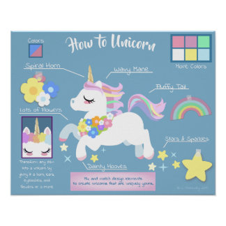 How to Unicorn Poster