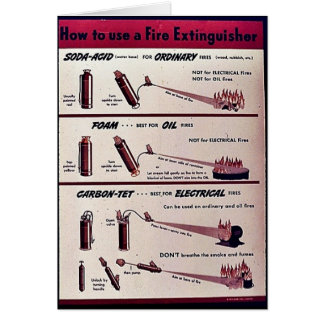 How To Use A Fire Extinguisher Greeting Cards